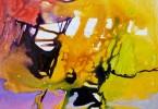 Encre du soir - Acrylique sur carton plume - 30x30cm