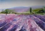 Champs odorants - aquarelle 30 x 25 cm