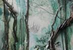 Forêt Guinéenne - huile sur toile 50 x 65 cm