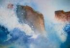 Furie de mer - aquarelle 35 x 25 cm