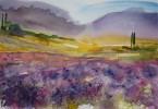La Provence - aquarelle 35 x 25 cm