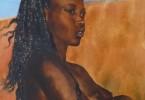 Tendre chocolat - huile sur toile 58 x 43 cm
