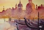 Venise en cadeau - aquarelle 35 x 25 - collection privée