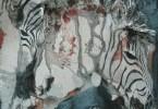 Zèbres stylisés - huile sur toile 60 x 80 cm