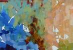 Dans la forêt - acrylique sur toile 40 x 40 cm