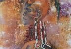 Femme au poisson - huile sur toile 60 x 80 cm