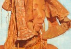 Femme Himba coiffée - huile sur toile 60 x 80 cm