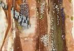 Femmes Peule au marché - huile sur toile 30 x 110 cm