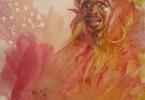 Guerrier en apparat - huile sur toile 80 x 60 cm