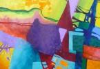 Horizon irréel - acrylique sur toile 50 x 40 cm