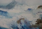 Petites vagues - aquarelle 17 x 13 cm