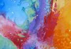 Structure tissulaire - acrylique sur toile 40 x 50 cm