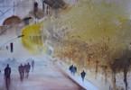 Ville Imaginaire - aquarelle 35 x 25 cm - collection privée